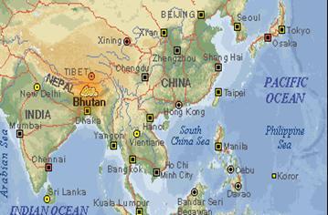 carte-bhoutan-asie